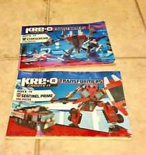 Kre-o Transformers Guides Sentinel Prime Starscream Autobot Decepticon Build Toy