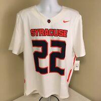 Nike Dri-Fit Mens Soccer Jersey Syracuse Orange #22 Large Sample Free Shipping!