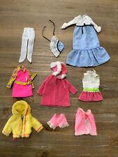 VINTAGE SKIPPER DOLL TLC MOD FASHION Lot - Dresses, Coats Pjs