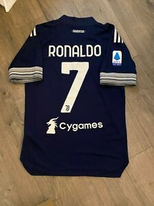 Cristiano Ronaldo Juventus FC 20/21 Serie A Away Football Soccer Men's Jersey L