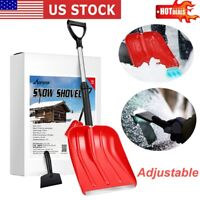 MOVTOTOP Snow Shovel Lightweight Snow Removal Ice Scraper for Front Door Road