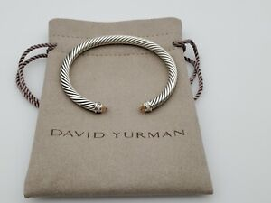 David Yurman Cable Classic Bracelet with Morganite and Diamonds 5mm size small