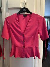 topshop pink blouse Size 6 See Description