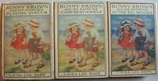 BUNNY BROWN and HIS SISTER SUE 3 Lot HCDJ Bobbsey Twins author Laura Lee Hope
