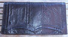 Sac à main pochette en cuir véritable de python d'élevage VINTAGE