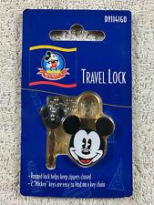 Disney Mickey's World Mickey Mouse Gold Small Travel Lock with 2 Keys New