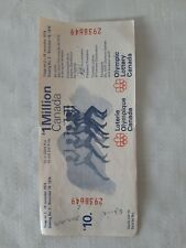 Vintage Montreal 1976 Olympic Games lottery ticket Olympic Lottery Canada 1974