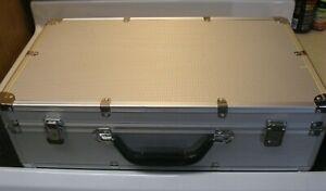 "21"" Large Aluminum Box Camera Equipment Electronics Case Gun Instrument Storage"