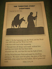 BOOKLET The Christmas Story Scriptures - 84 NIV Bible New International LG Ec 25
