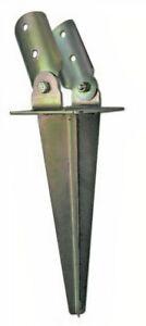 Soporte de estaca inclinable para postes redondos galvanizado fijación al terren