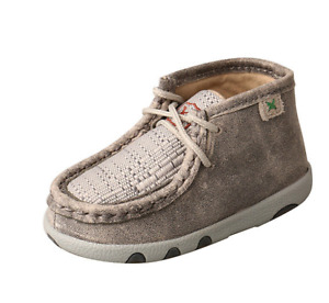 Twisted X Infant Chukka Driving Moc Grey/Light Grey ICA0012