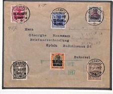 BO3 1917 WW1 ROUMANIA Bucarest GERMAN Occupation Various Issues Cover