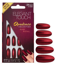 Elegant Touch Opulence Collection Stiletto False Nails Ruby Royal Le