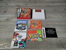 Pokemon Fire Red (GBA, Game Boy Advance) Complete In Box CIB Authentic !!