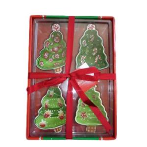 Christmas Tree Snack Treat Bowls - Set of 4 Xmas Gift Present