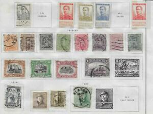 21 Belgium Stamps from Quality Old Antique Album 1912-1921