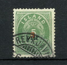 SKAB 003  ICELAND 1897 USED  Mich 18AI PERF 14 X 13 1/2