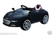 MACCHINA ELETTRICA PER BAMBINI tip AUDI R8 BMW I8 12V NERA AUTO TELECOM SPORTIV