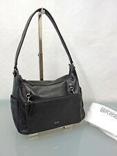 BREE Designer Leder Schultertasche Handtasche Tasche Leather Bag Schwarz