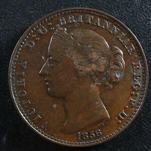NS-6A1 One penny token 1856 Canada Nova Scotia Mayflower Breton 875