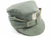 VINTAGE ORIGINAL POLISH ARMY CAMOUFLAGE FIELD CAP HAT + BADGE COLD WAR POLAND 58