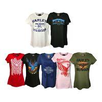 New Harley Davidson Women's T Shirt Motorcycle Wear Cotton
