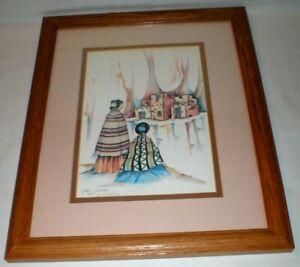 Southwest Art Print Signed 1985 Framed