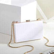 New Women Evening Party Acrylic Transparent Clutch Box Purse Bag Wedding Handbag