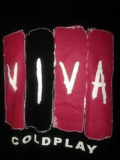 COLDPLAY VIVA LA VIDA TOUR 2008 XL T- SHIRT OUT OF PRINT ROCK CHRIS MARTIN