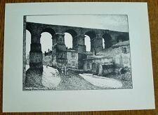 Jouy-aux-Arches Gaudach - römische Wasserleitung: alte Ansicht / Druck ca 1920