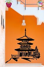 Wall Stickers Vinyl Decal Pagoda Chinese Oriental Temple Religion Decor (z2031)