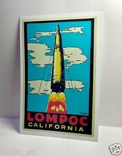California Vintage Style Travel Decal / Vinyl Sticker Luggage Label