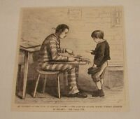 1880 magazine engraving ~ CONVICT AND LITTLE BOY