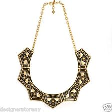 Collar necklace 14kt plated antiqued Belle Noel Kim Kardashian Gypsy Chic