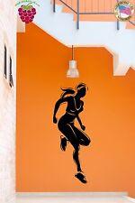 Wall Stickers Vinyl Decal Woman Fitness Sport Running Jogging  (z1697)