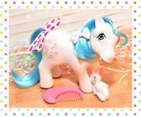 ❤️My Little Pony MLP G1 Vtg 1984 European UK Exclusive White Tootsie Moon Comb❤️