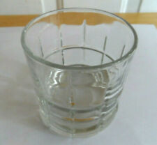 Tartan Clear Pattern by Anchor Hocking Old Fashioned Glass Tumbler 3.5""