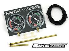 Motorcycle Carb Carburettor Vacuum Balancer Gauge For 2 Cylinder Bike Gauges Kit