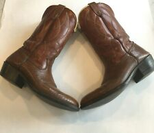 Unbranded Womens Leather Western Cowgirl Cowboy Boots Dark Brown Size 6D