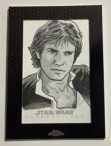 2014 Topps Chrome STAR WARS Han Solo Perspectives Sketch Card 1 of 1 Chris Ring
