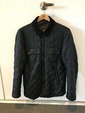 Barbour Men's Akenside Quilted Jacket, Navy Blue, Medium, Preowned