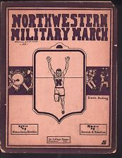 Northwestern Military March 1912 Large Format Sheet Music