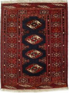 Small Entryway Vintage Tribal Design Red 2X3 Oriental Rug Wool Kitchen Carpet