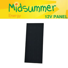 12V 120W Midsummer All Black Monocrystalline Solar PV panel with Sunpower Cells
