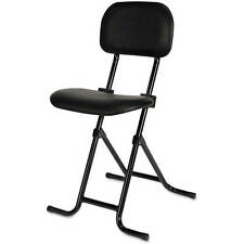 Folding Stool With Back Adjustable Height Counter Black Metal Bar Shop Small