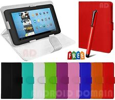 """7"""" Inch PU Leather Flip Case Cover Tablet Stand for Kindle Fire HDX 7 + Free Pen"""