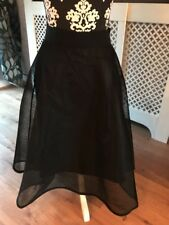 New Look Floaty Sheer Midi Skirt Size 12