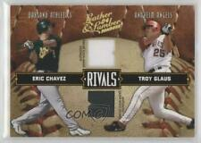 2004 Donruss Leather & Lumber Rivals Materials /250 Eric Chavez Troy Glaus