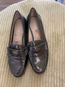 Coach Peyton Women's Green Patent Leather Penny Loafers Slip On Shoes Size 8B