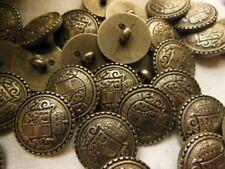 lot 10  boutons argenté travaillé bombé à pied  couture diamètre 1,7 cm TA